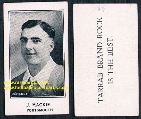 1926 J Mackie Portsmouth Barratt's Tarrab Brand Rock card